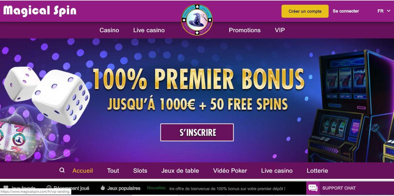 Magical Spin casino avis : que vaut ce casino ?
