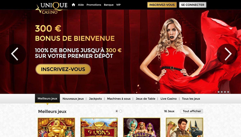 Unique casino avis : un casino à essayer absolument